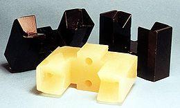 Custom-molded urethane cradles
