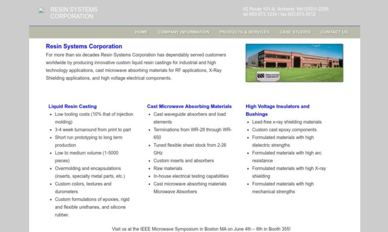 Resin Systems Corporation